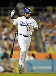 22 July 2011: Los Angeles Dodgers outfielder Andre Ethier in action against the Washington Nationals at Dodger Stadium in Los Angeles, California. The Nationals defeated the Dodgers 7-2 in their first meeting of the 2011 season. Mandatory Credit: Ed Wolfstein Photo