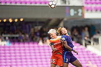 Orlando, FL - Saturday June 24, 2017: Janine van Wyk, Toni Pressley during a regular season National Women's Soccer League (NWSL) match between the Orlando Pride and the Houston Dash at Orlando City Stadium.