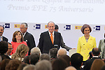 "Spain Vicepresident Soraya Saenz de Santamaria, King Juan Carlos of Spain and Queen Sofia of Spain attend the ""REY DE ESPAÑA"" International Journalism Awards and ¨DON QUIJOTE"" Journalism Award in Madrid, Spain. May 27, 2014. (ALTERPHOTOS/Victor Blanco)"