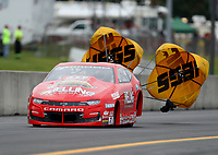 Sep 13, 2019; Mohnton, PA, USA; NHRA pro stock driver Erica Enders during qualifying for the Keystone Nationals at Maple Grove Raceway. Mandatory Credit: Mark J. Rebilas-USA TODAY Sports