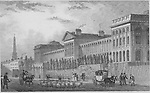 Lunatic hospital, St Luke's, engraving 'Metropolitan Improvements, or London in the Nineteenth Century' London, England, UK 1828 , drawn by Thomas H Shepherd