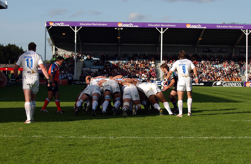 Photo: Olly Greenwood..NEC Harlequins v Sale Sharks. EDF Anglo-Welsh Cup. 07/10/2006. Scrum, General view.