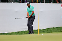 Hideki Matsuyama (JPN) on the 10th green during the 3rd round of the Waste Management Phoenix Open, TPC Scottsdale, Scottsdale, Arisona, USA. 02/02/2019.<br /> Picture Fran Caffrey / Golffile.ie<br /> <br /> All photo usage must carry mandatory copyright credit (© Golffile | Fran Caffrey)