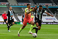 Manchester City's Gabriel Jesus battles with Newcastle United's Jamaal Lascelles<br /> <br /> Photographer Alex Dodd/CameraSport<br /> <br /> FA Cup Quarter-Final - Newcastle United v Manchester City - Sunday 28th June 2020 - St James' Park - Newcastle<br />  <br /> World Copyright © 2020 CameraSport. All rights reserved. 43 Linden Ave. Countesthorpe. Leicester. England. LE8 5PG - Tel: +44 (0) 116 277 4147 - admin@camerasport.com - www.camerasport.com