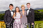 Pictured at the Presentation Tralee Debs ball at the Ballyroe Heights Hotel on Thursday, were, from l-r Adrian O'Mahony, Aoife Brosnan, Mairead Dineen and Casey O'Sullivan