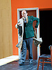 The Trial <br /> by Franz Kafka<br /> adapted by Nick Gill <br /> at The Young Vic Theatre, London, Great Britain <br /> 25th June 2015 <br /> press photocall <br /> <br /> Rory Kinnear as Josef K<br /> <br /> Photograph by Elliott Franks <br /> Image licensed to Elliott Franks Photography Services