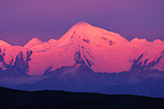 Alpenglow over Alaska Range, Denali National Park, Alaska