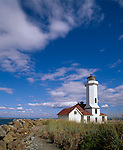 Jefferson County, WA      <br /> Point Wilson Lighthouse on the Quimper Peninsula