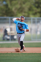 Alex Ramirez during the WWBA World Championship at the Roger Dean Complex on October 19, 2018 in Jupiter, Florida.  Alex Ramirez is a shortstop from Warick, Rhode Island who attends Central High School and is committed to Rhode Island.  (Mike Janes/Four Seam Images)