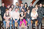 21ST BIRTHDAY: Jacqueline Fealy of Ardfert gathered with family and friends to celebrated her 21ST birthday at the Deacon hotel last Friday night seated l:r Majella McCarthy, Kevin O'Shea, Fior Flahive, Jacqueline, Dianna Fealy, Martina Flahive, Karen Douglas. Back l:r Drew O'Sullivan Mags Mahoney, Jocasta Radford, Shaun-Rae Thomas, Trevin Collins, Samantha Doyle, Nelius Cooney, Aine Lennihan and Petra McCarthy.   Copyright Kerry's Eye 2008