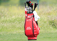 Jack Senior (ENG) on the 1st tee during Round 1 of the Challenge de Madrid, a Challenge  Tour event in El Encin Golf Club, Madrid on Wednesday 22nd April 2015.<br /> Picture:  Thos Caffrey / www.golffile.ie