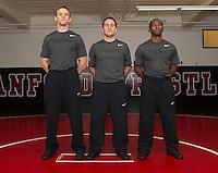 STANFORD, CA - SEPTEMBER 24, 2014-- Stanford University Men's Wrestling coach staff
