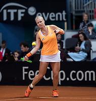 Bratislava, Slovenia, April 22, 2017,  FedCup: Slovakia-Netherlands, seccond rubber : Kiki Bertens (NED) <br /> Photo: Tennisimages/Henk Koster