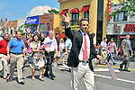 MAY 30, 2011 - LITTLE NECK, NY: New York Governor Andrew M. Cuomo marching in Little Neck-Douglaston Memorial Day Parade, on Northern Boulevard on May 30, 2011.
