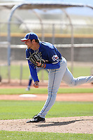 Trevor Hurley, Texas Rangers 2010 minor league spring training..Photo by:  Bill Mitchell/Four Seam Images.