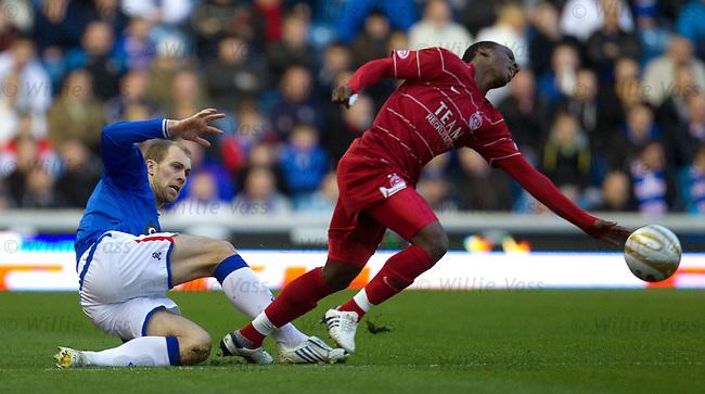 Steven Whittaker brings down Sone Aluko