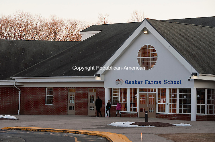 OXFORD,  CT-011915JS02-  The Board of Selectmen and Board of Finance will consider a request for bonding for a new roof for Quaker Farms School in Oxford. The repairs are budgeted at $800,000. <br />  Jim Shannon Republican-American