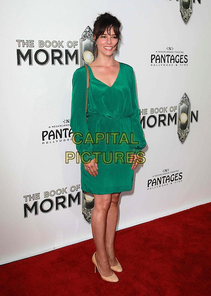 "Parker Posey.""The Book of Mormon"" Hollywood Opening night Held At The Pantages theatre, Hollywood, California, USA..September 12th, 2012.full length dress green beige shoes .CAP/ADM/KB.©Kevan Brooks/AdMedia/Capital Pictures."