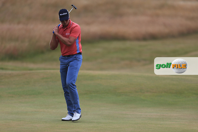 Henrik STENSON (SWE) during round 4 of  The 142th Open Championship Muirfield, Gullane, East Lothian, Scotland 21/7/2013<br /> Picture Fran Caffrey www.golffile.ie: