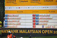 Final scoreboard with just one hole to play looks like Lee Westwood (ENG) home and dry during the Final Round of the 2014 Maybank Malaysian Open at the Kuala Lumpur Golf & Country Club, Kuala Lumpur, Malaysia. Picture:  David Lloyd / www.golffile.ie