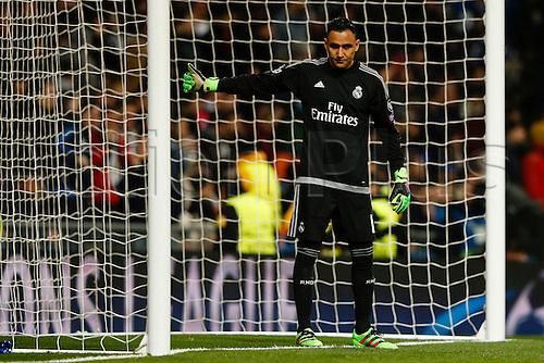 08.03.2016 Estadio Santiago Bernabeu, Madrid, Spain. UEFA Champions League Real Madrid CF versus AS Roma.  Keylor Navas Gamboa (1) Real Madrid keeper.