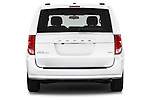 Straight rear view of 2018 Dodge Grand-Caravan SXT 5 Door Minivan Rear View  stock images