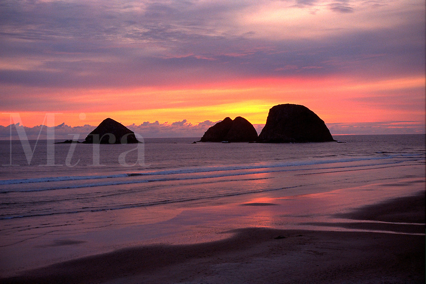 Three Arch Rocks. Oceanside Oregon United States Oregon Coast.