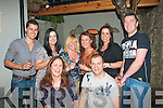1130-1134.---------.Party Ring.----------.Kara Gibbons(seated)Rockwell close,Tralee and her new Fiancee Alex Eaton(Cork)celebrated their engagement last Saturday night in Bella Bia restaurant,Ivy Terrace,Tralee,with some friends(back)L-R Matthew Smith,Rebecca Ryan,Mary Goodall,Grainne Coffee,Yvonne Reidy and Dave Collins.
