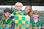 Kerry fans waiting for the Kerry Team arrival at Tralee Train Station on Monday evening. From left: Ciara, Luke, Aine and Amy O Mahony.