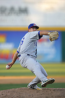 August 30 2009: Lance Sewell of the Stockton Ports during game against the Rancho Cucamonga Quakes at The Epicenter in Rancho Cucamonga,CA.  Photo by Larry Goren/Four Seam Images
