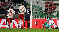 10th March 2020, Red Bull Arena, Leipzig, Germany; EUFA Champions League, RB Leipzig v Tottenham Hotspur;  Marcel Sabitzer Leipzig scores the goal for 2 0 past goalkeeper Hugo Lloris Tottenham