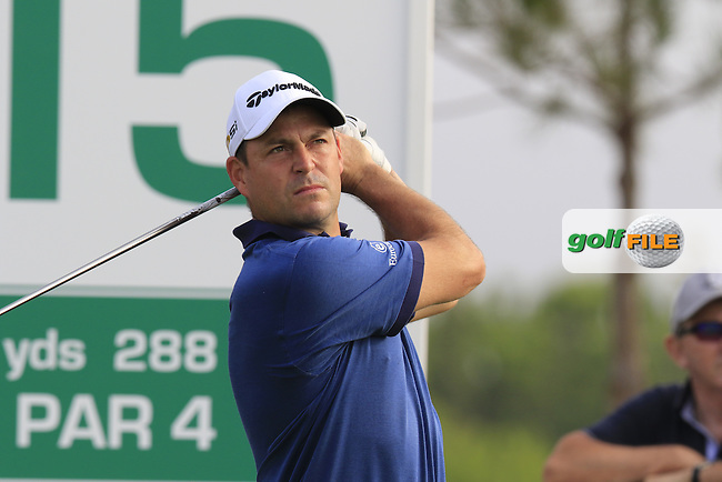 David Howell (ENG) tees off the 15th tee during Thursday's Round 1 of the 2016 Portugal Masters held at the Oceanico Victoria Golf Course, Vilamoura, Algarve, Portugal. 19th October 2016.<br /> Picture: Eoin Clarke | Golffile<br /> <br /> <br /> All photos usage must carry mandatory copyright credit (&copy; Golffile | Eoin Clarke)
