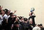 ODBOJKA, BEOGRAD, 18. Jan. 2012. - Navijaci Partizana. Utakmica grupe C Lige sampiona za sezonu 2011/2012 izmedju Partizana i poljske ekipe Zaksa.  Foto: Nenad Negovanovic