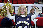 25 January 2015: A young Notre Dame fan. The North Carolina State University Wolfpack played the University of Notre Dame Fighting Irish in an NCAA Division I Men's basketball game at the PNC Arena in Raleigh, North Carolina. Notre Dame won the game 81-78 in overtime.