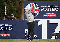 Richard Bland (ENG) in action during the Final Round of the British Masters 2015 supported by SkySports played on the Marquess Course at Woburn Golf Club, Little Brickhill, Milton Keynes, England.  11/10/2015. Picture: Golffile | David Lloyd<br /> <br /> All photos usage must carry mandatory copyright credit (© Golffile | David Lloyd)