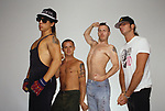 The Red Hot Chili Peppers  in a Portrait Photo Session in Los Angeles Ca. Photo Credit: Mike Hasimoto/AtlasIcons.com