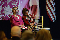 www.acepixs.com<br /> February 16, 2017  New York City<br /> <br /> Hillary Clinton and Anna Wintour at the press conference for The Oscar de la Renta Forever Stamp First-Day-of-Issue Stamp Dedication Ceremony, Vanderbilt Hall at Grand Central Station on February 16, 2017 in New York City.<br /> <br /> Credit: Kristin Callahan/ACE Pictures<br /> <br /> <br /> Tel: 646 769 0430<br /> Email: info@acepixs.com