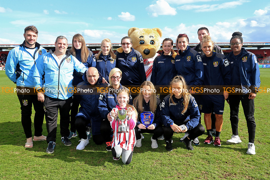 Stevenage FC Ladies on the pitch at half-time during Stevenage vs Barnet, Sky Bet EFL League 2 Football at the Lamex Stadium on 1st April 2017