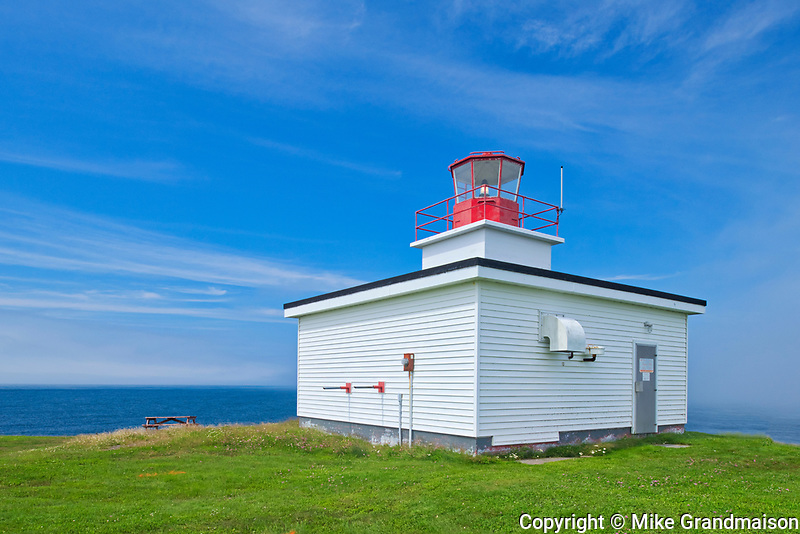 Grand Passage Lighthouse on Bay of Fundy<br />Brier Island on DIgby Neck<br />Nova Scotia<br />Canada