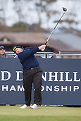 5th October 2017, The Old Course, St Andrews, Scotland; Alfred Dunhill Links Championship, first round; Patrick Newcomb of the USA tees off on the 17th hole during the first round at the Alfred Dunhill Links Championship on the Old Course, St Andrews