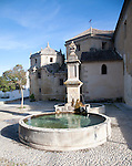 Historic water fountain Iglesia de Carmen church, Alhama de Granada, Spain