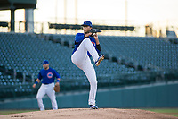 AZL Cubs starting pitcher Brailyn Marquez (58) delivers a pitch during a game against the AZL Brewers on August 6, 2017 at Sloan Park in Mesa, Arizona. AZL Cubs defeated the AZL Brewers 8-7. (Zachary Lucy/Four Seam Images)