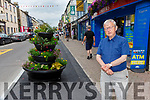 Cllr Donal Grady who is not happy with large flower paths placed on footpaths that were widened for social distancing