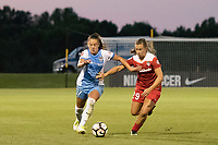 Boyds, MD - Saturday June 03, 2017:  Andressa Cavalari Machry, Meggie Dougherty Howard during a regular season National Women's Soccer League (NWSL) match between the Washington Spirit and the Houston Dash at Maureen Hendricks Field, Maryland SoccerPlex