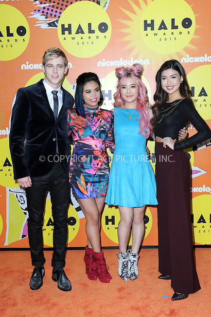 WWW.ACEPIXS.COM<br /> November 14, 2015 New York City<br /> <br /> Erika Tham, Louriza Tronco, Megan Lee and Dale Whibley attending the 2015 Nickelodeon HALO Awards at Pier 36 on November 14, 2015 in New York City.<br /> <br /> Credit: Kristin Callahan/ACE<br /> Tel: (646) 769 0430<br /> e-mail: info@acepixs.com<br /> web: http://www.acepixs.com