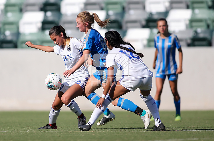 Irvine, CA - July 11, 2019: U.S. Soccer Girls' DA U-15 Final San Jose Earthquakes vs Colorado Rush at Great Park.