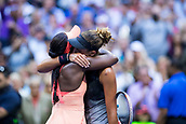 9th September 2017, FLushing Meadows, New York, USA;  SLOANE STEPHENS (USA), left, and MADISON KEYS (USA) embrace after Stephens wins the women's final of the 2017 US Open tennis tournament  at Billie Jean King National Tennis Center in Flushing Meadow, NY.