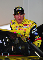 Feb 11, 2009; Daytona Beach, FL, USA; NASCAR Sprint Cup Series driver Clint Bowyer during practice for the Daytona 500 at Daytona International Speedway. Mandatory Credit: Mark J. Rebilas-