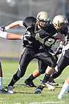 Palos Verdes, CA 09/24/10 - Blake Allman (Peninsula #77)  in action during the Serra-Peninsula varsity football game at Peninsula High School.