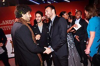 Nederland, Utrecht, 24 oktober 2014. Het 34ste Nederlands Film Festival 2014. Openingsavond NFF 2014 met premiere Bloedlink. Vlnr: Marwan Kenzari (cast Bloedlink), Achmed Akkabi, Nasrdin Dchar. Foto: 31pictures.nl / The Netherlands, Utrecht, 24 September 2014. The 34rd Netherlands Film Festival 2014. NFF 2014 opening night with premiere Bloedlink. From left; Marwan Kenzari (cast Bloedlink), Achmed Akkabi, Nasrdin Dchar. Photo: 31pictures.nl / (c) 2014, www.31pictures.nl